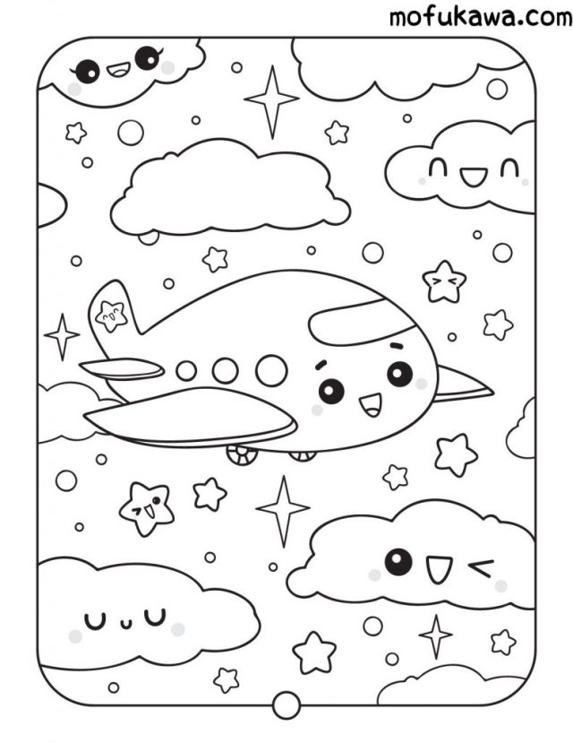 Printable Kawaii Coloring Pages - For Kids And Adults