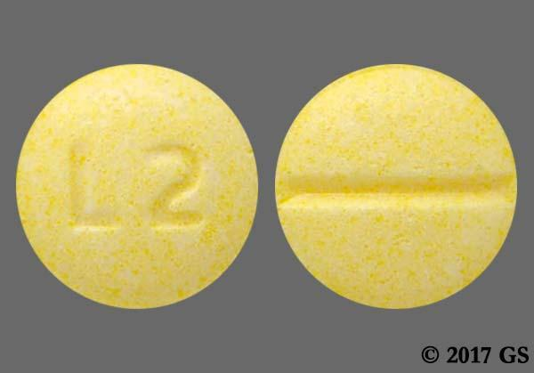 Yellow Round With Imprint L Pill Images - GoodRx