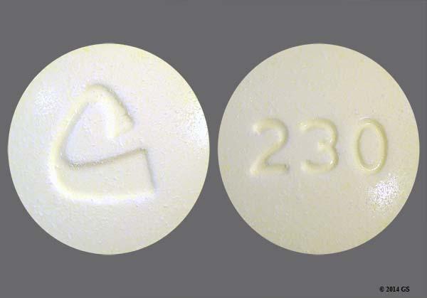 Identify Pills Markings 230