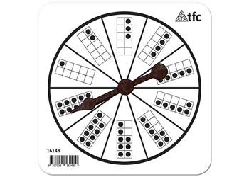 Tens Frame Pattern Spinner 1-10 dots