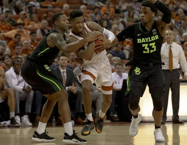 Image result for Texas Longhorns Vs Baylor Bears college basketball 2019