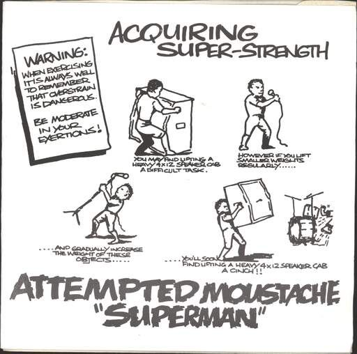 Attempted Moustache Superman Vinyl Records and CDs For