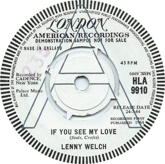 Lenny Welch If You See My Love Vinyl Records and CDs For