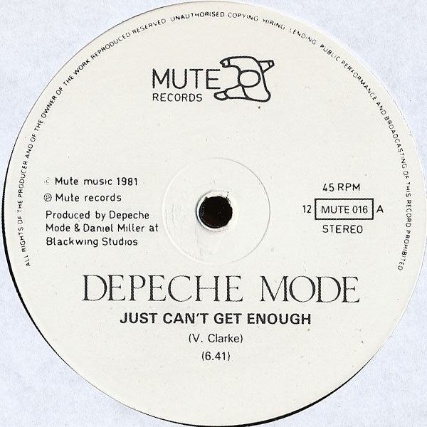 Depeche Mode Just Can't Get Enough Vinyl Records and CDs