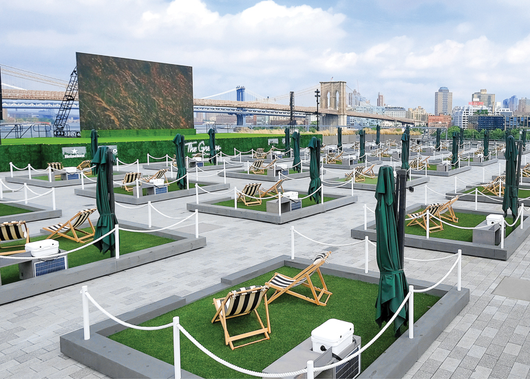 The Greens Mini Lawns Add Outdoor Space to New York's Seaport District