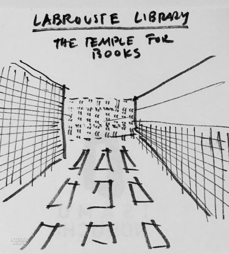 Jonathan Marvel Sketches Out a Brooklyn Heights Library
