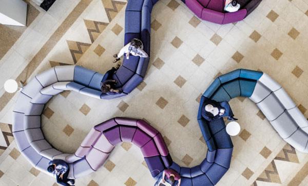 chadwick sofa grey rattan outdoor corner sofas herman miller s creates a 250 foot at idneocon