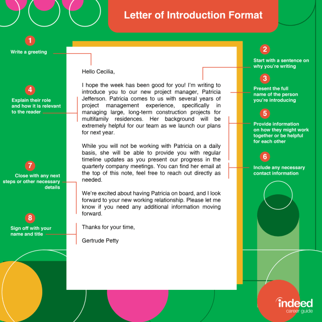 Letter of Introduction: Overview and Examples  Indeed.com