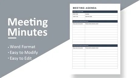 Be sure to edit and distribute the minutes. Wps Template Free Download Writer Presentation Spreadsheet Templates