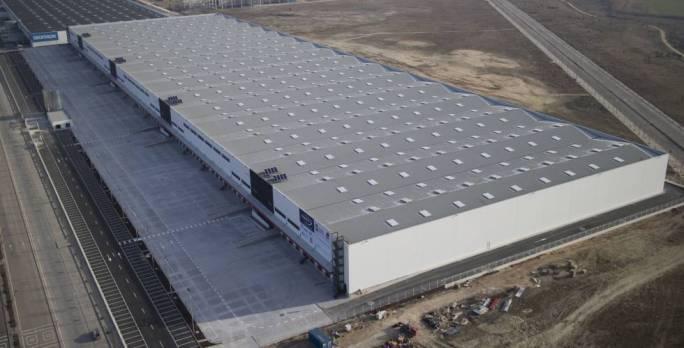 Futuro centro logístico de Amazon en Getafe.