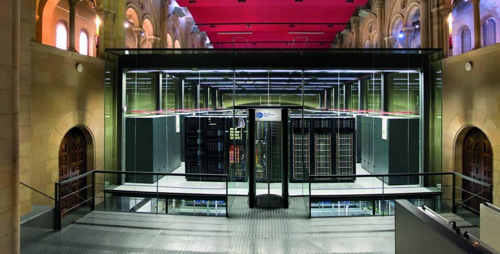 Centro de supercomputación de Barcelona MareNostrum.