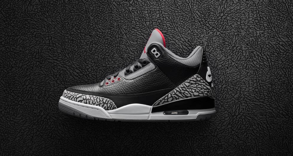 Air Jordan III Black Cement.