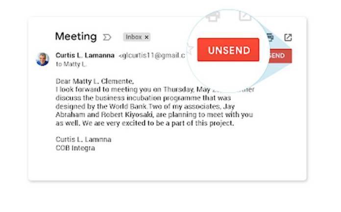 Unsend Gmail