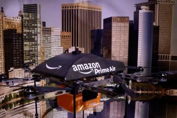 Un dron para reparto de la compañía Amazon.