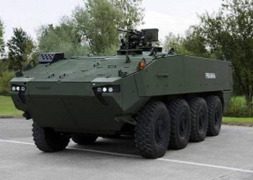 El vehículo blindado VCR 8x8 que comprará Defensa.