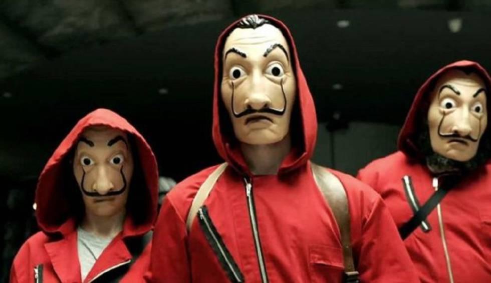 Fotograma de La casa de papel, serie original de Netflix.