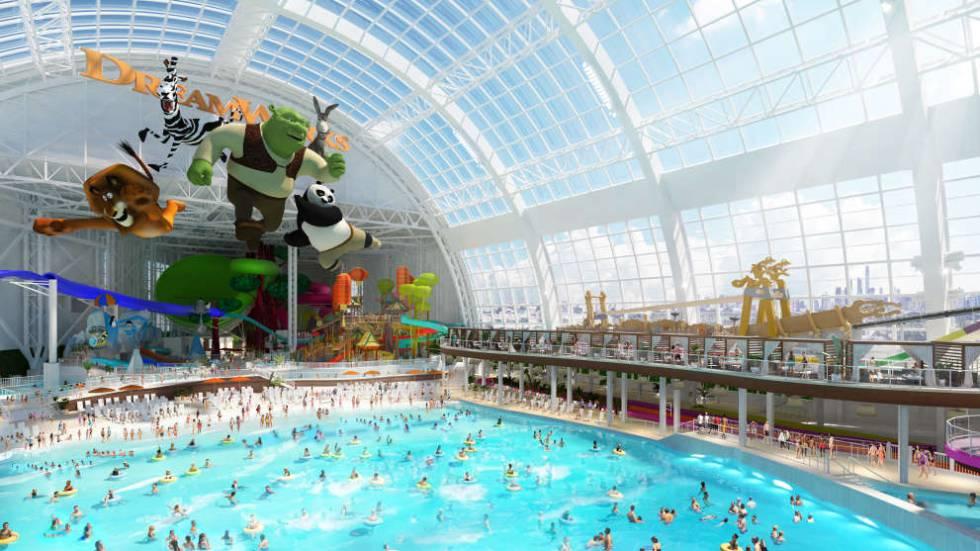 El parque acuático del centro comercial abrirá el 27 de noviembre.