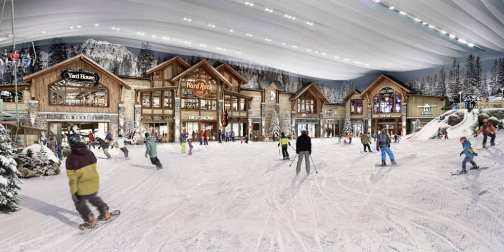 La apertura de la pista de nieve cubierta está prevista para el 5 de diciembre.