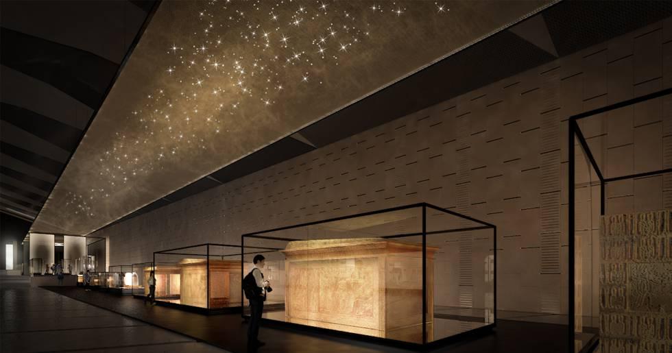 Rehabilitación técnica del Gran Museo de Egipto por Acciona, que finalizará en 2020.