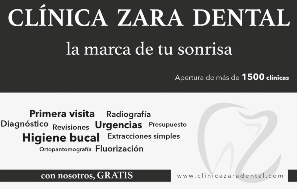 Anuncio que Clínica Zara Dental publicó en prensa