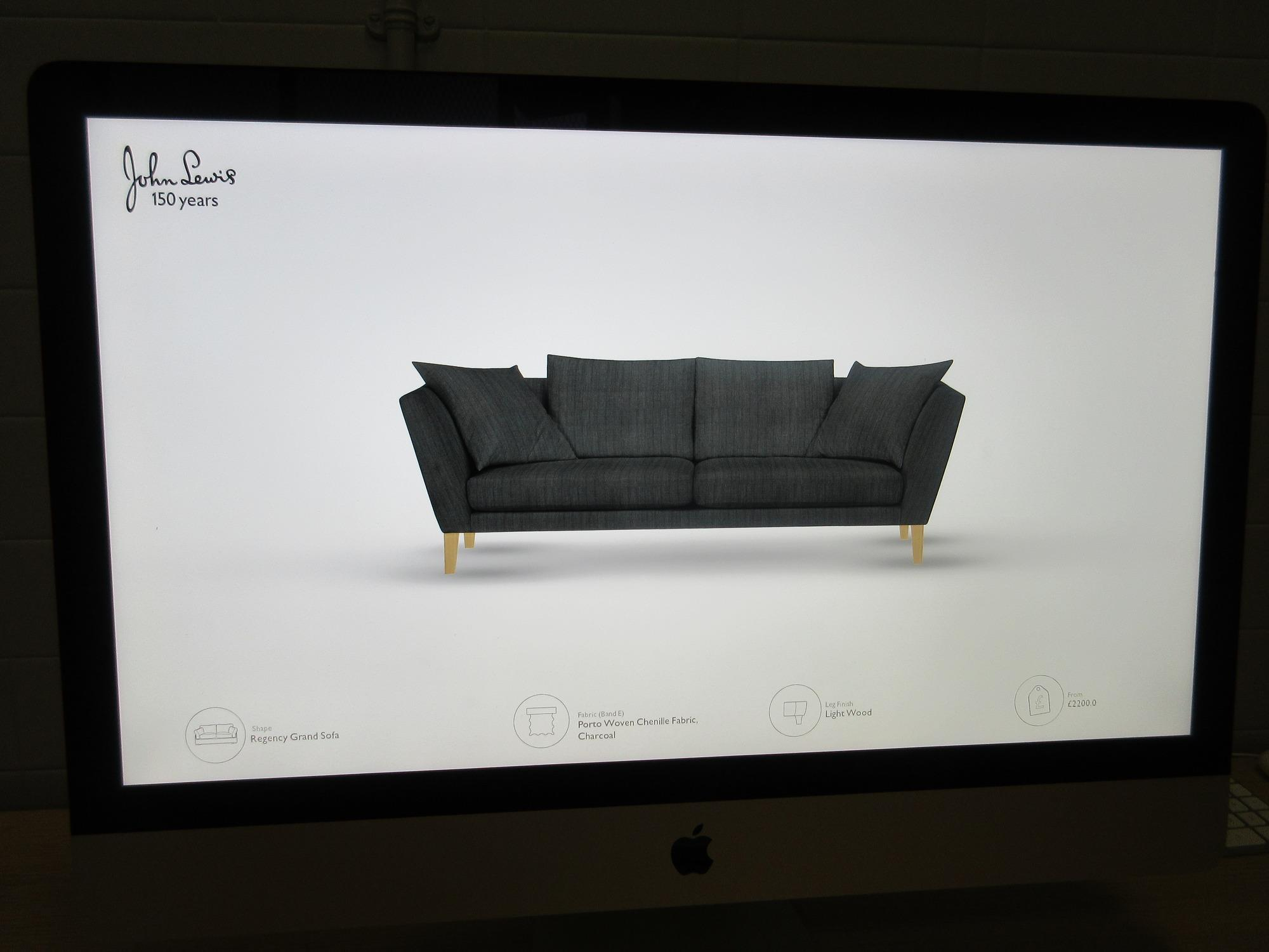 regency sofa john lewis slip covers target trials interactive studio using rfid and 3d printing news retail week