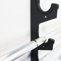 Gun Rack - 6 Barbell Horizontal Wall Mount - Equipment for ...