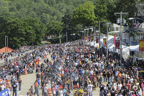 The Event Like Many Motorcycle Rallies Began With Racing Gypsy Tour Pre Runner To Laconia And Other Events First