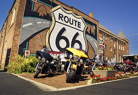 Route 66 Chicago to Albuquerque guided motorcycle tour - Route 66