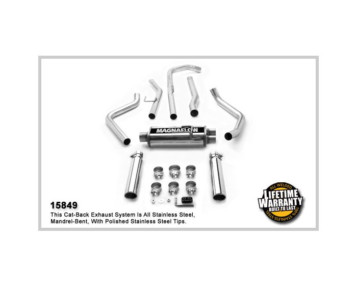 2004-2006 Nissan Titan 5.6L V8 Stainless Cat Back Dual Exhaust