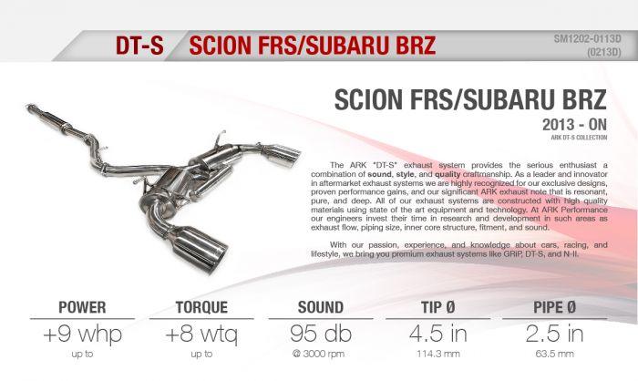 2013 2016 scion frs polished tip dt s cat back exhaust system