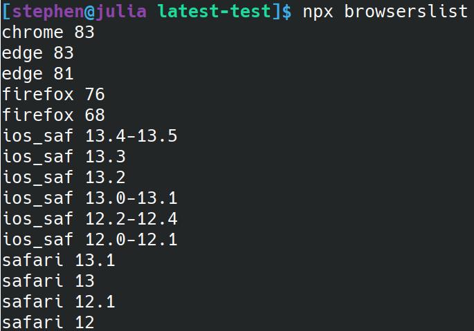 Browers pris en charge par Angular 10