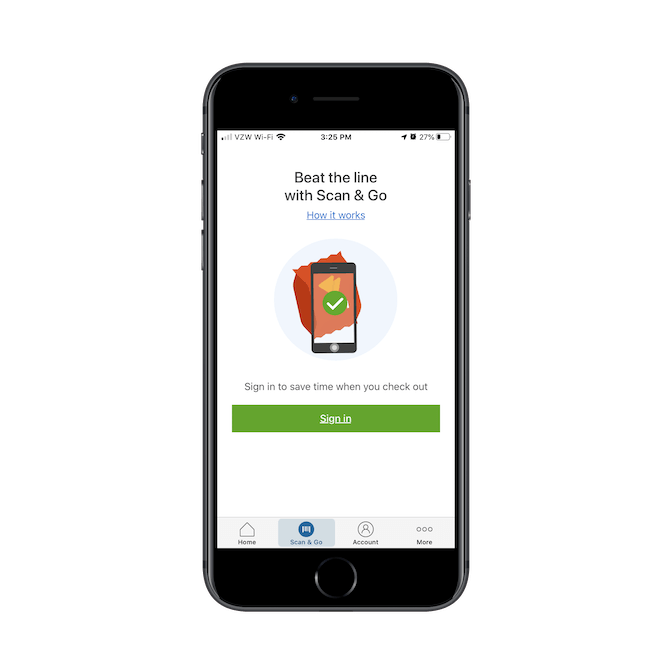 La fonction Sam's Club 'Scan & Go' est disponible pour les clients qui souhaitent payer leurs achats via l'application au lieu de passer à la caisse