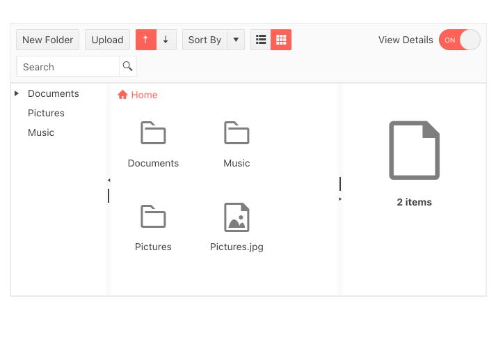 Modèle KendoReact FileManager