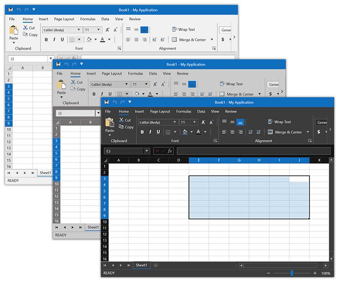 Variations de feuille de calcul Office2019
