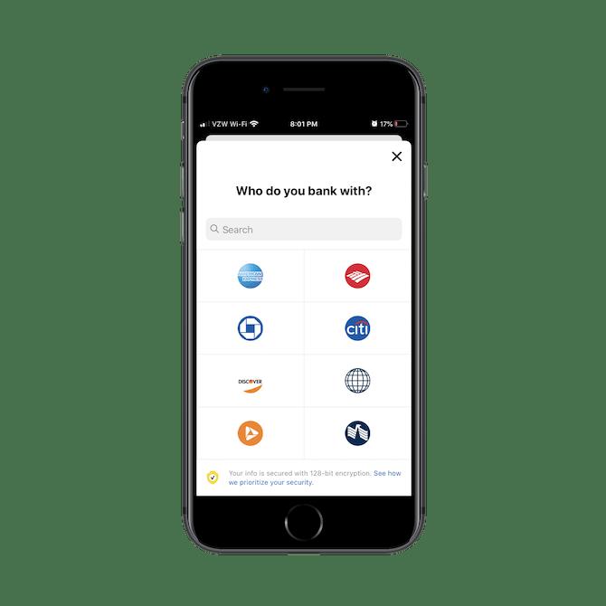 Nerdwallet aide les utilisateurs à connecter rapidement leur application de budgétisation et d'épargne à d'autres banques.