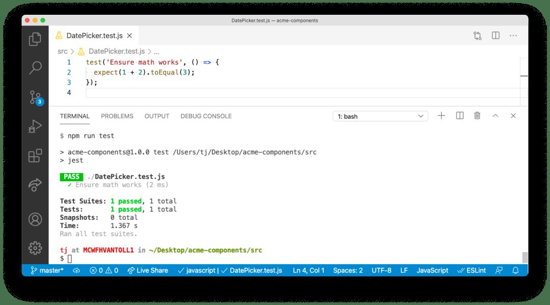 """Simple Jest test passant """"title ="""" Simple Jest test passant """"/> [19659042] REMARQUE: </strong data-recalc-dims="""