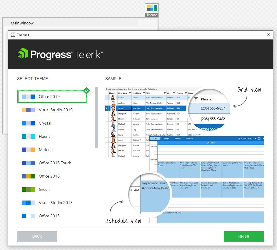 Assistant de thème Progress WPF
