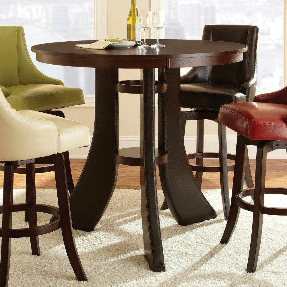 Steve Silver Brooks Contemporary 48 Inch Round Bar Table ...