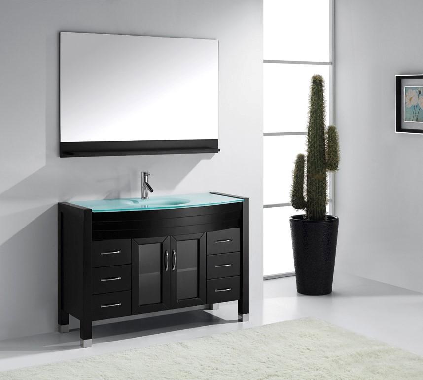 Ava 48 inch single sink bathroom vanity by virtu usa for Ava bathroom furniture