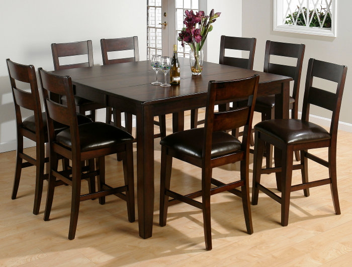9 Piece Set Kitchen Dining Furniture Tables Chairs Benches Servers