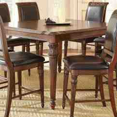 Inexpensive Kitchen Table Sets Island With Trash Can Steve Silver Alberta 5840 Rectangular Counter Height