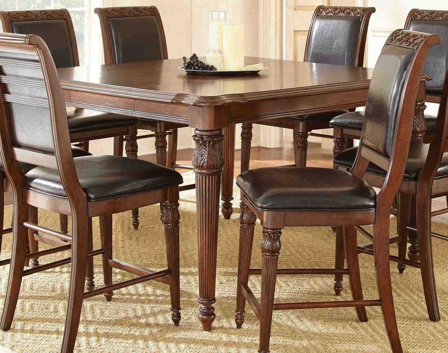 Rectangle Kitchen Table And Chairs Steve Silver Alberta 5840 Rectangular Counter Height