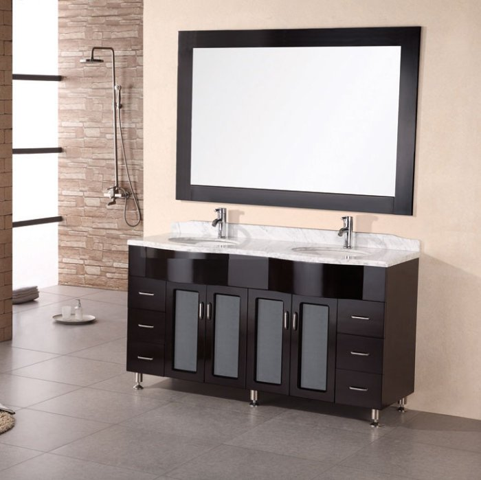 Double Sink Bathroom Vanities And Linen Cabinets Home Decor Interior Desig