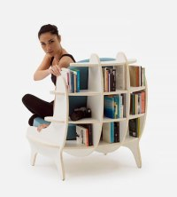 Comfy Chair With Built In Bookshelves For Book Lovers ...