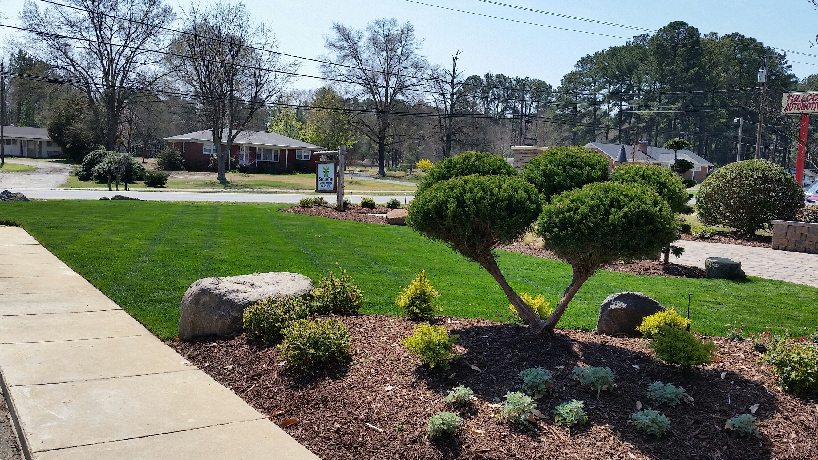 Landscape design and installation lawn care services for Landscape design services