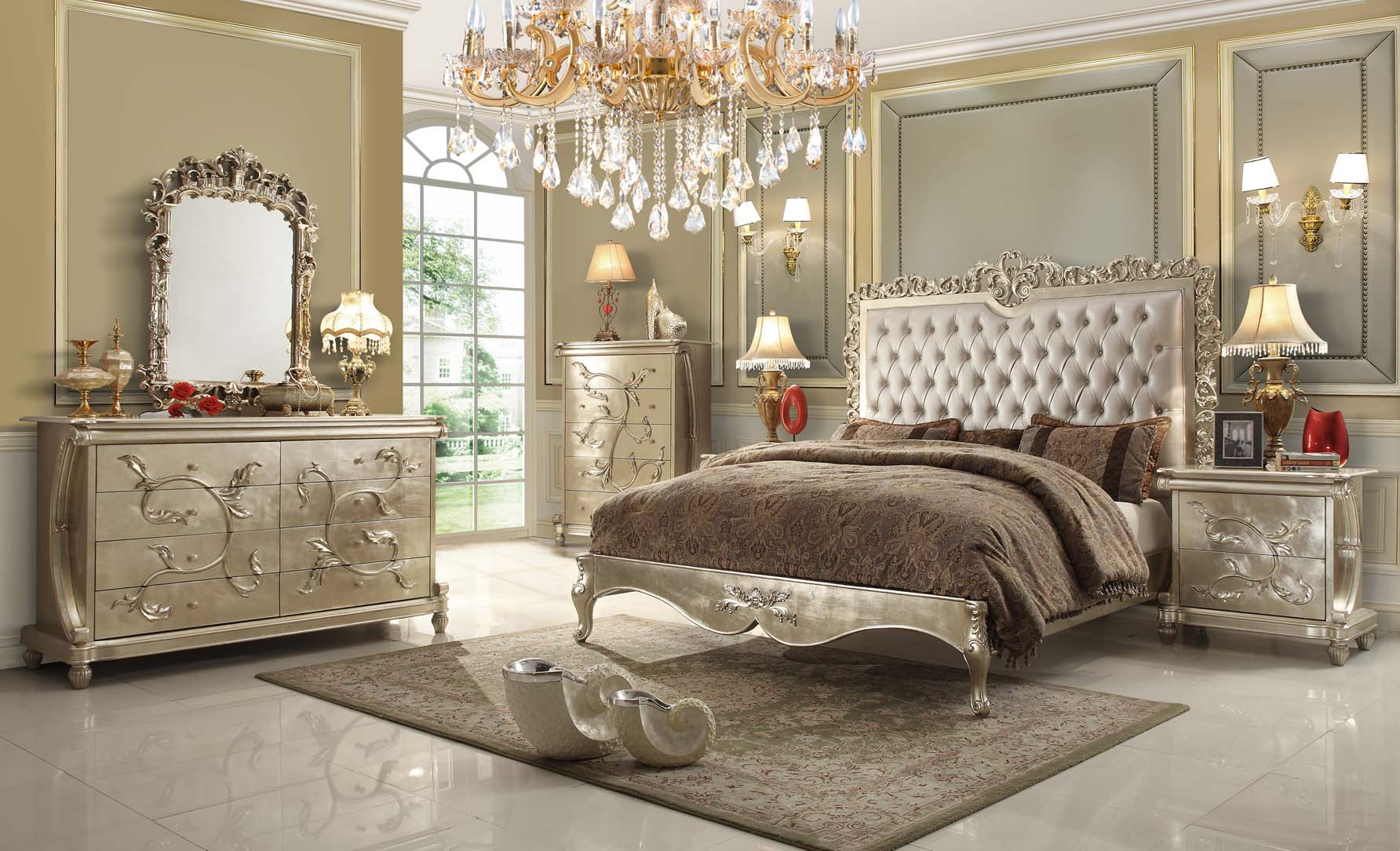 Pearl Victorian Design Bedroom Set From Homey Design