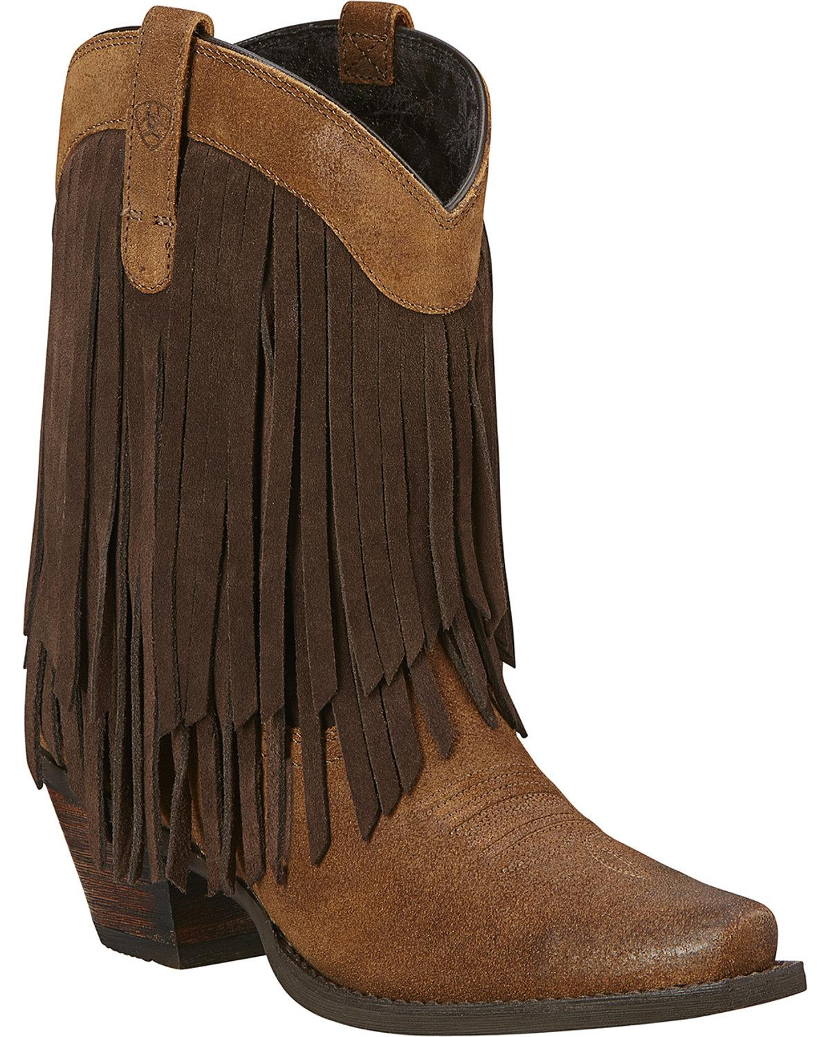 fcaab192935 Ariat Fringe Boots - Usefulresults