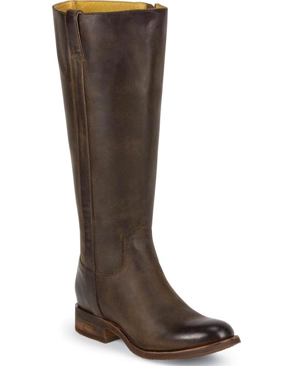 Justin Women39s Tall Leather Riding Boot Round Toe MSL502