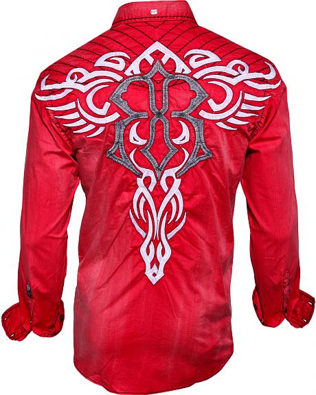 Roar Mens Stabilize Red Long Sleeve Shirt  Sheplers