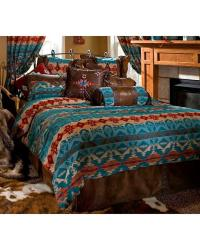 Carstens Turquoise Chamarro King Bedding - 5 Piece Set ...